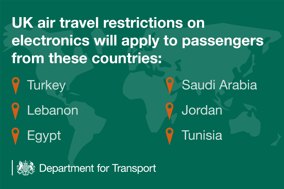 News story: Additional hand luggage restrictions on some flights to the UK